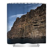 The Rocks Of Los Gigantes 1 Shower Curtain
