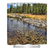 The Rocks Of Rock Creek Shower Curtain