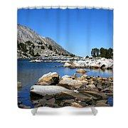 The Rocks Of Treasure Lake Shower Curtain