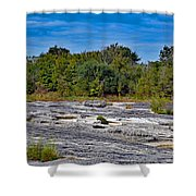 The Rocky Limestone Trail  Shower Curtain