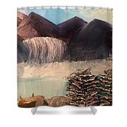 The Rocky Mountain Shower Curtain
