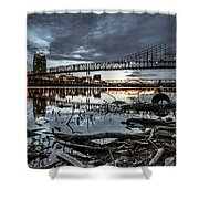 The Roebling Gotham Style Shower Curtain
