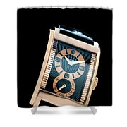 the Rolex Prince, eve rose gold.  Shower Curtain