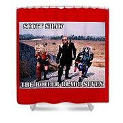 The Roller Blade Seven Shower Curtain by The Scott Shaw Poster Gallery