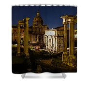 The Roman Forum At Night Shower Curtain