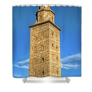 The Roman Lighthouse Known As Tower Of Hercules Shower Curtain