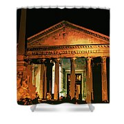 The Roman Pantheon At Night Shower Curtain