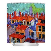 The Rooftops Shower Curtain
