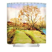 The Rookery By V.kelly Shower Curtain
