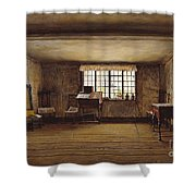 The Room In Which Shakespeare Was Born Shower Curtain