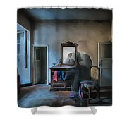 The Room Of The Castle Of The Phantom Of The Mirror Paint Shower Curtain