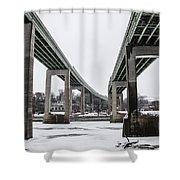The Roosevelt Expressway Bridges Shower Curtain
