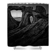 The Roots Of The Sleeping Giant Bw Shower Curtain