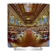 The Rose Main Reading Room Nypl Shower Curtain