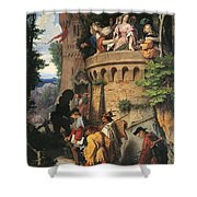 The Rose Or The Artist's Journey Shower Curtain