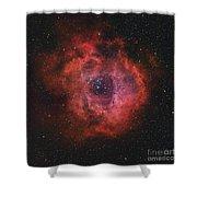 The Rosette Nebula Shower Curtain