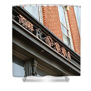 The Rossi Tavern Sign Shower Curtain