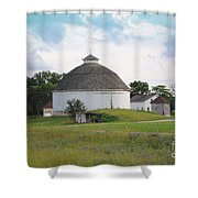 The Round Barn Shower Curtain