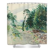 The Route Shower Curtain