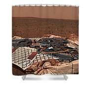 The Rovers Landing Site, The Columbia Shower Curtain