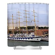 The Royal Clipper Docked In Venice Italy Shower Curtain