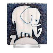 An Elephant On A Turtle Shower Curtain