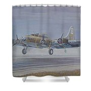 The Royal Flush Comes Home Shower Curtain by Scott Robertson