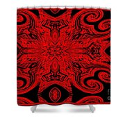 The Royal Red Crest Shower Curtain