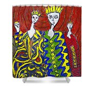 The Royal Sisters Shower Curtain