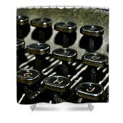 The Royal Typewriter Shower Curtain