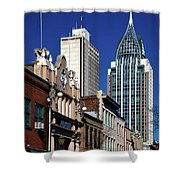 The Rsa Tower - Mobile Alabama Shower Curtain