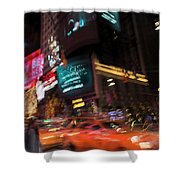 The Running Of The Taxis Shower Curtain