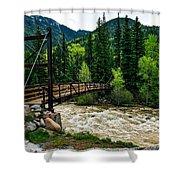 The Rushing Animas River - Colorado Shower Curtain