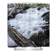 The Rushing River Shower Curtain