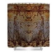 The Rusted Feline Shower Curtain