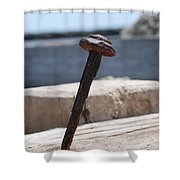 The Rusted Spike Shower Curtain