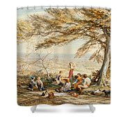 The Rustic Dinner Shower Curtain