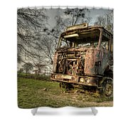 The Rusting Rig Shower Curtain