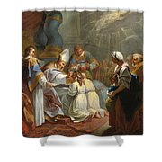 The Sacrament Of Confirmation Shower Curtain