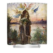 The Sacred Elephant 1882 Shower Curtain