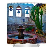 The Sacred Garden Of Mission San Juan Capistrano California Shower Curtain
