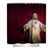 The Sacred Heart Shower Curtain