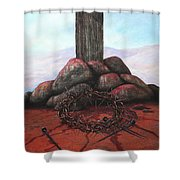 The Sacrifice Of His Love Shower Curtain