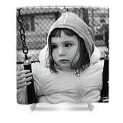 The Sad Girl On A Swing Shower Curtain