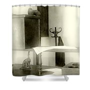 The Safe In The Wall Shower Curtain