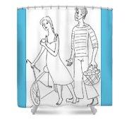 The Sailor. Shower Curtain