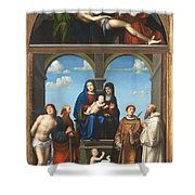 The Saint Anne Altarpiece From San Frediano Lucca Shower Curtain