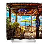 The Salty Dog Cafe St. Thomas Shower Curtain