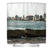 The San Juan Puerto Rico Cityscape Shower Curtain