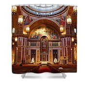 The Sanctuary Of Saint Matthew's Cathedral Shower Curtain